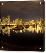 False Creek At Night Acrylic Print