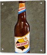 Falstaff Beer Bottle Acrylic Print by Elaine Hodges