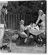 Family Bbq, C.1960s Acrylic Print