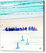Family Day At Beach Acrylic Print