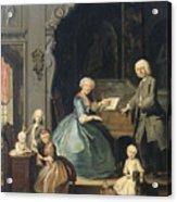 Family Group Near A Harpsichord, 1739 Acrylic Print