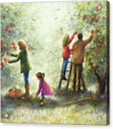 Family Picking Apples Acrylic Print