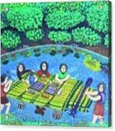 Family Picnic In Palau Acrylic Print