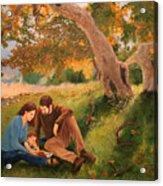 Family Portrait Under A Tree Acrylic Print