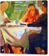 Family Talk At The Table Acrylic Print
