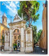 Famous Arc From Basilica Di San Vitale In Ravenna, Italy Acrylic Print