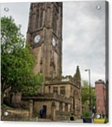 Famous Cathedral Of Manchester City In  Uk Acrylic Print
