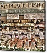 Famous Fish At Pike Place Market Acrylic Print