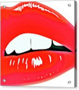 Famous Red Lips Acrylic Print