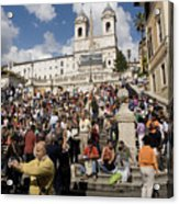 Famoust Spanish Steps In Rome Acrylic Print