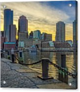 Fan Pier Boston Harbor Acrylic Print