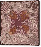 Fancy Antique Lace Hankie Acrylic Print