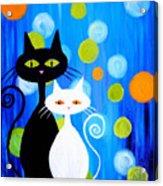 Fancy Cats Acrylic Print
