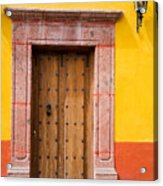 Fancy Door Acrylic Print