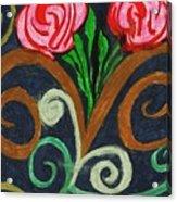 Fancy Flowers Acrylic Print