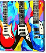 Fancy Guitars Acrylic Print