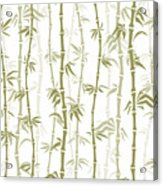 Fancy Japanese Bamboo Watercolor Painting Acrylic Print