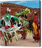 Fancy Shawl Dancer At Star Feather Pow-wow Acrylic Print