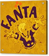 Fanta Old School Pop Art Pur Acrylic Print