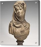 Fantasy Bust Of A Veiled Woman (marguerite Bellanger?) Acrylic Print