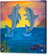 Fantasy Dolphins Acrylic Print