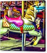 Fantasy Fair Horse Ride Acrylic Print
