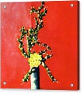 Fantasy Flowers Still Life #162 Acrylic Print