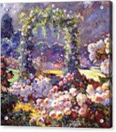 Fantasy Garden Delights Acrylic Print by David Lloyd Glover