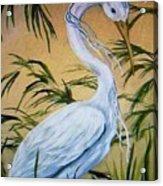 Fantasy Heron Acrylic Print