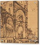 Fantasy On A Magnificent Triumphal Artch Acrylic Print