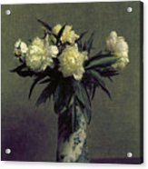 Fantin-latour: Peonies, 1872 Acrylic Print by Granger