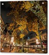 Fanueil Hall Boston Ma Autumn Foliage Acrylic Print