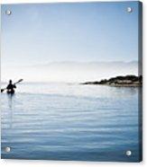 Faraway Kayaker In Morro Bay Acrylic Print