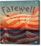 Farewell Acrylic Print