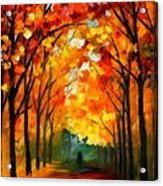 Farewell To Autumn Acrylic Print