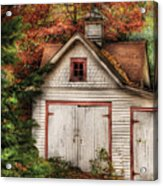 Farm - Barn - Our Old Shed Acrylic Print by Mike Savad