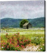 Farm - Barn - Out In The Country  Acrylic Print by Mike Savad