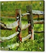 Farm - Fence - The Old Fence Post  Acrylic Print