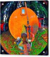 Farm And Logging Machinery Acrylic Print