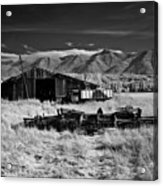 Farm Building In Infrared Acrylic Print