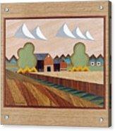 Farm By Ripon-marquetry Acrylic Print