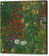 Farm Garden With Flowers Acrylic Print