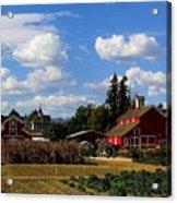 Farm House Acrylic Print by Scott Brown