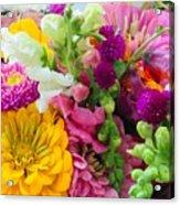 Farm Market Flowers Acrylic Print