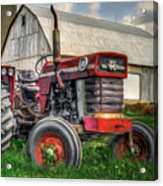 Farm Scene - Painting Acrylic Print