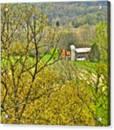 Farm Seen From Culp Hill Lookout In Gettysburg National Military Park-pennsylvania Acrylic Print