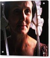 Farm Woman In Bonnet Acrylic Print