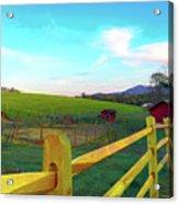 Farm Yard Fence Acrylic Print