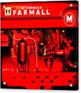 Farmall Engine Detail Acrylic Print
