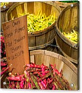 Farmers Market Acrylic Print by Andrew Kubica